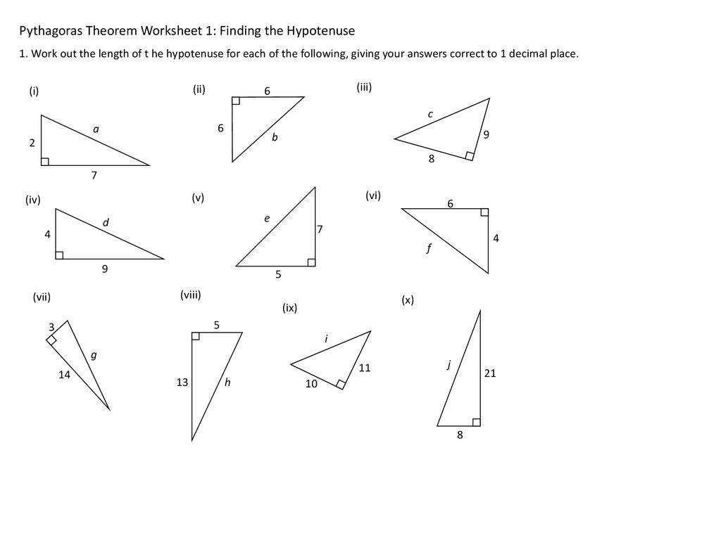 30 Introduction To Pythagorean Theorem Worksheet