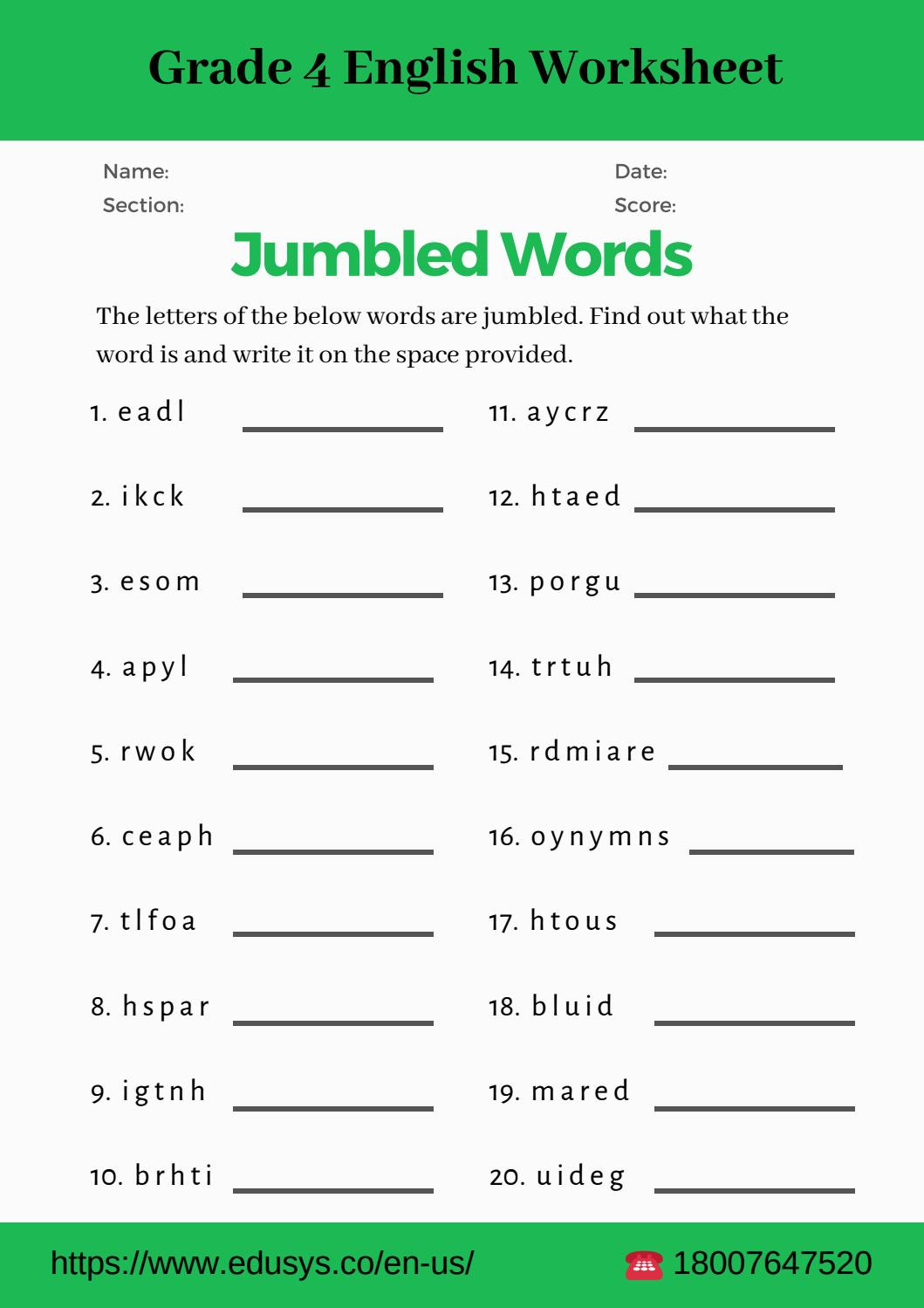 30 10th Grade Vocabulary Worksheets