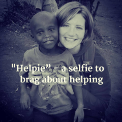 helpie - selfie to brag about helping
