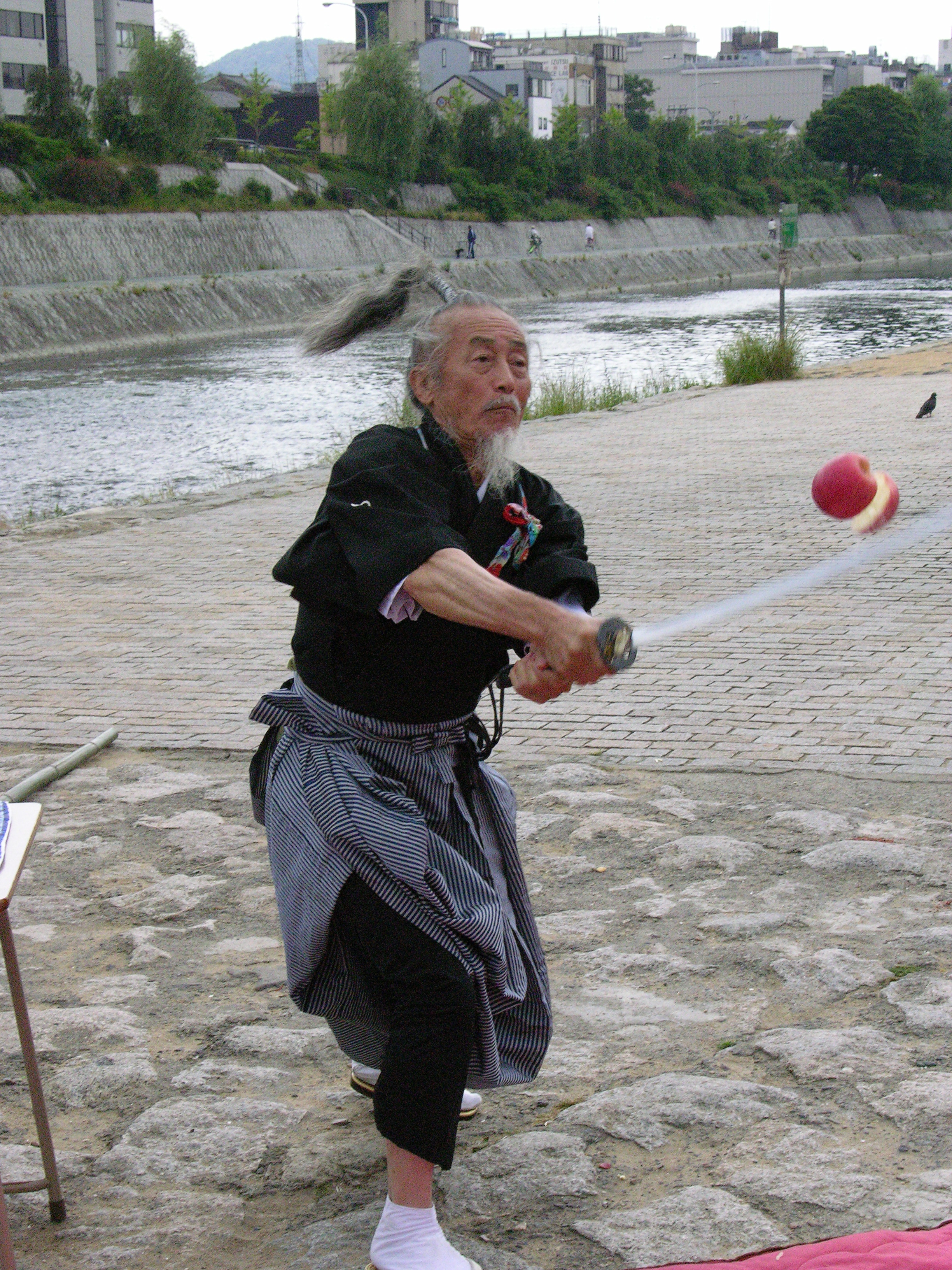 Samurai, Kamo Gawa, Kyoto, Japan, image by Jade Jackson