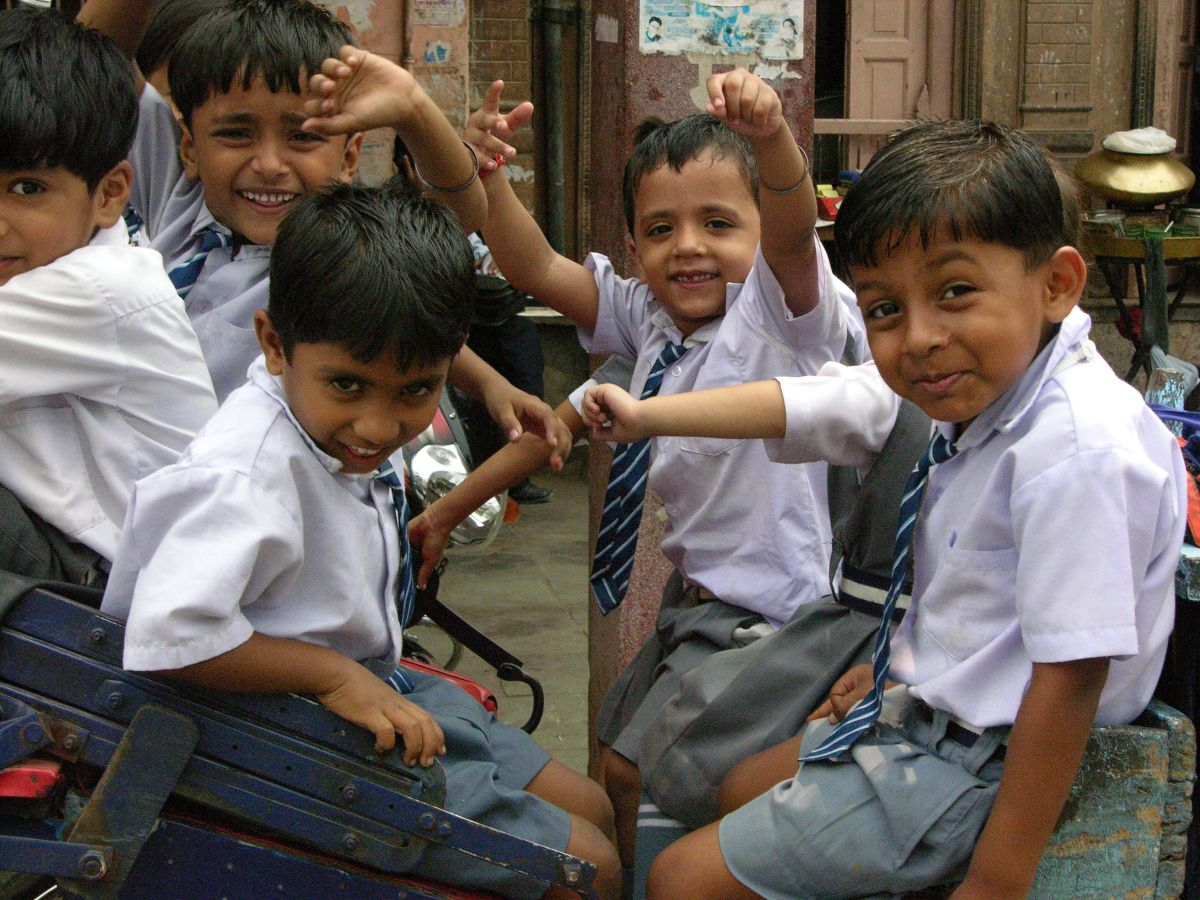 Indian Kids, Delhi, India, image by Jade Jackson