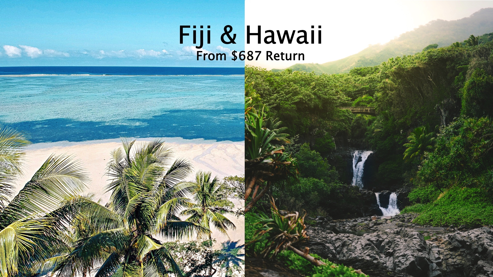 cheap flights Fiji and Hawaii