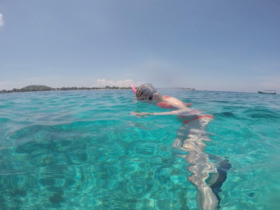Snorkelling Gilli Islands, Lombok, snorkelling Lombok, Indonesia, swimming, bikini, image by Jade jackson