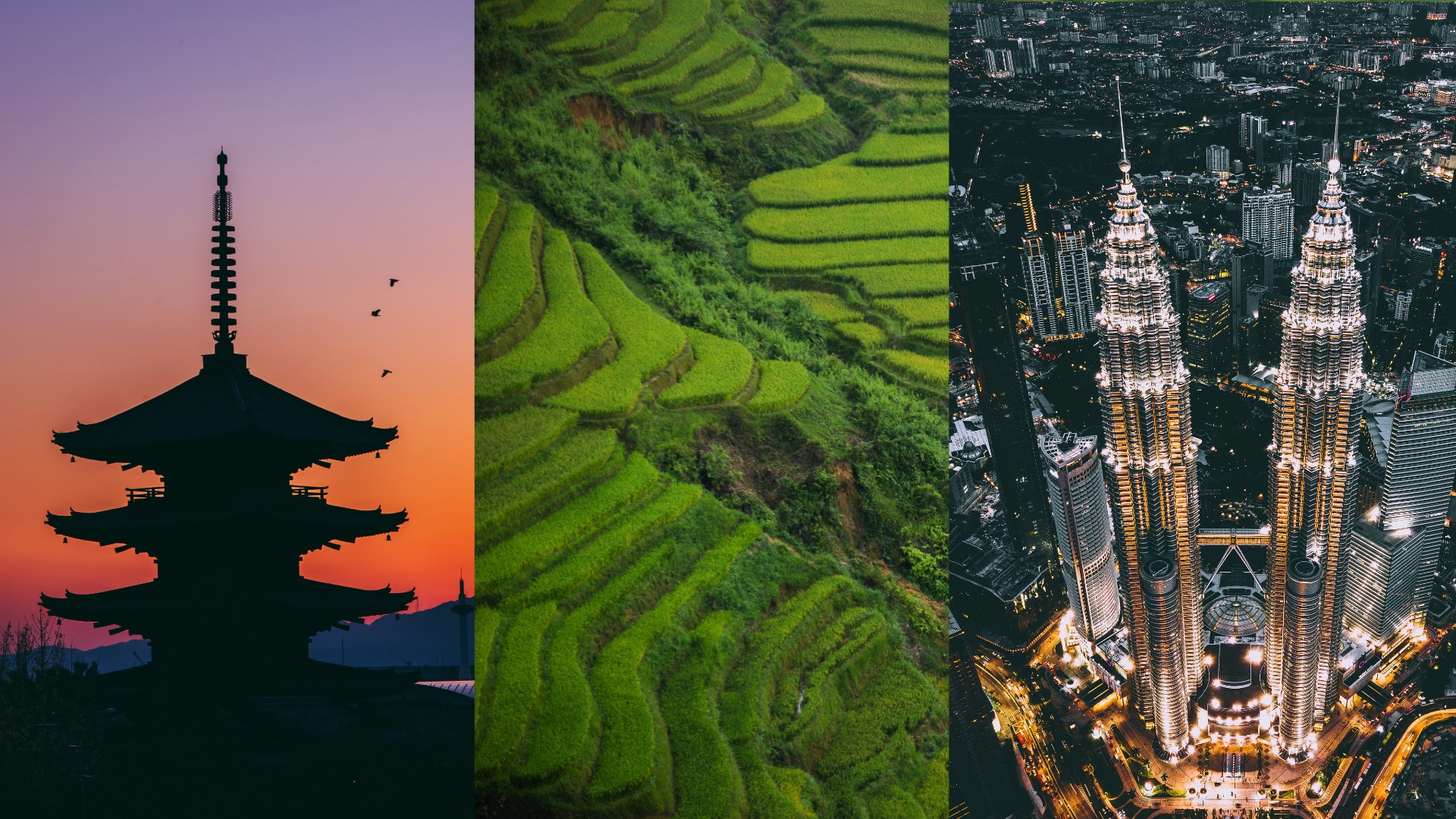 Japan, Vietnam, Malaysia