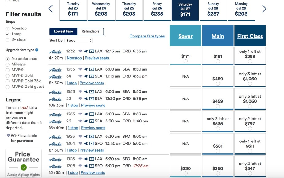 Alaska Airlines Los Angeles LAX to Chicago CHI. Article by Jade Jackson, Cheap Fares America