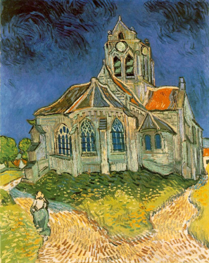 Vincent Van Gogh, The Church at Auvers, Auvers-Sur-Oise, Van Gogh, Art, France