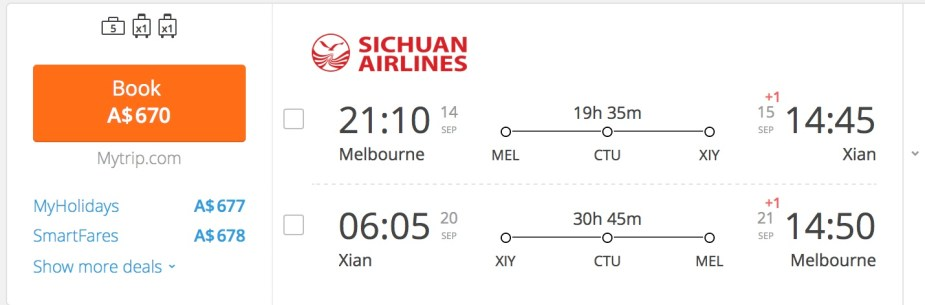 Sichuan Airlines Melbourne to Chengdu. Jade Jackson.