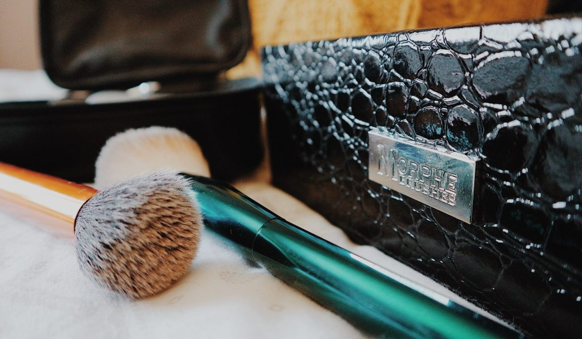 Morphe Square Snakeskin Case | Makeup | Real Techniques + No7 Makeup Brushes