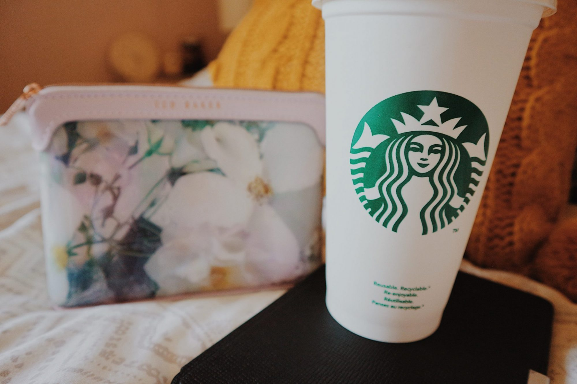 Ted Baker Cosmetics Bag | Kindle Paperwhite | Starbucks Reusable Travel Mug