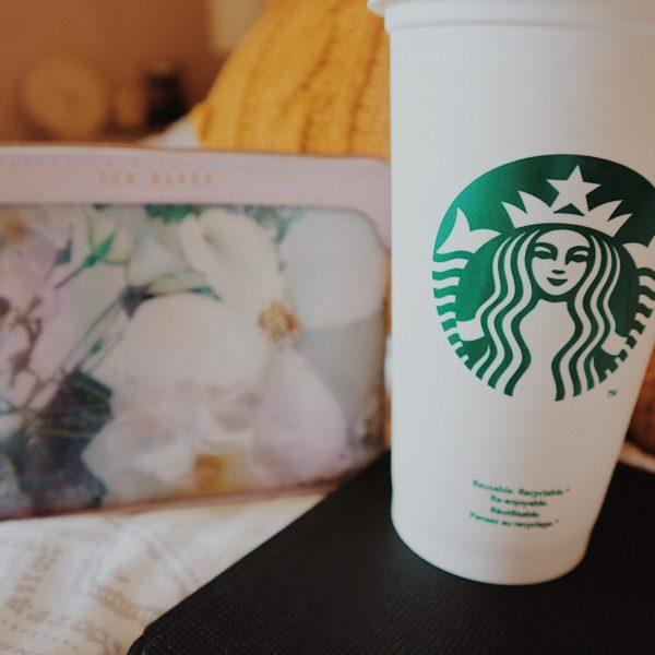 Ted Baker Cosmetics Bag | Kindle Paperwhite | Starbucks Reusable Travel Mug