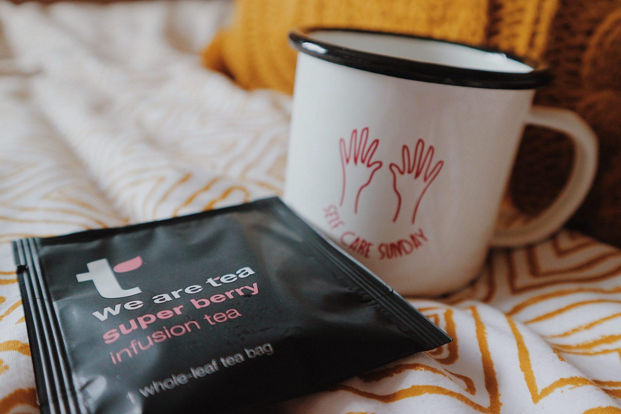 We Are Tea Super Berry Infusion Tea + Self Care Mug
