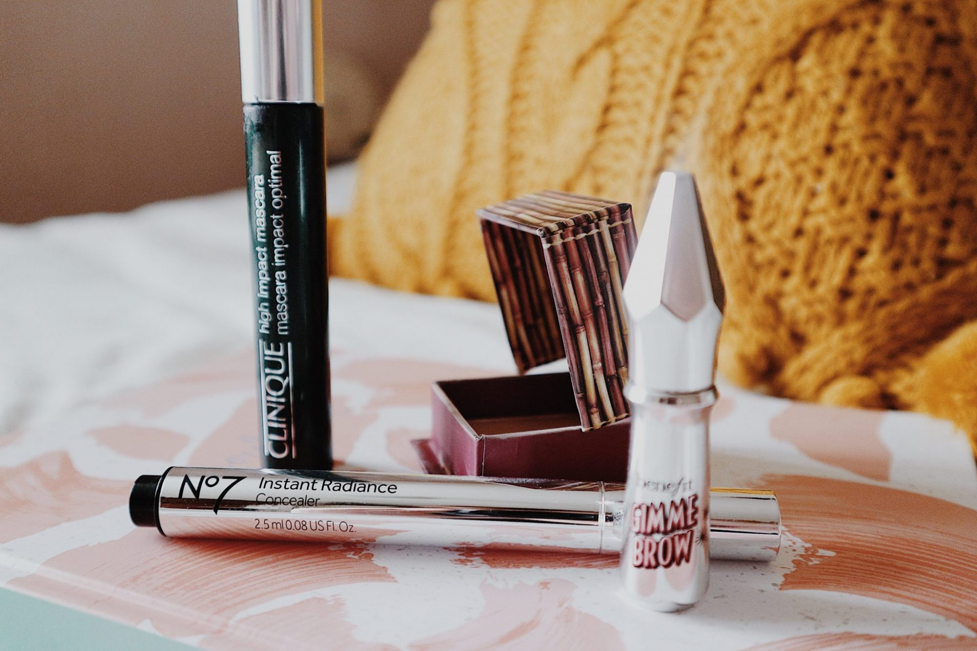 Clinique High Impact Mascara + No7 Instant Radiance Concealer + Benefit Hoola Bronzer + Benefit Gimme Brow | Beauty | Makeup