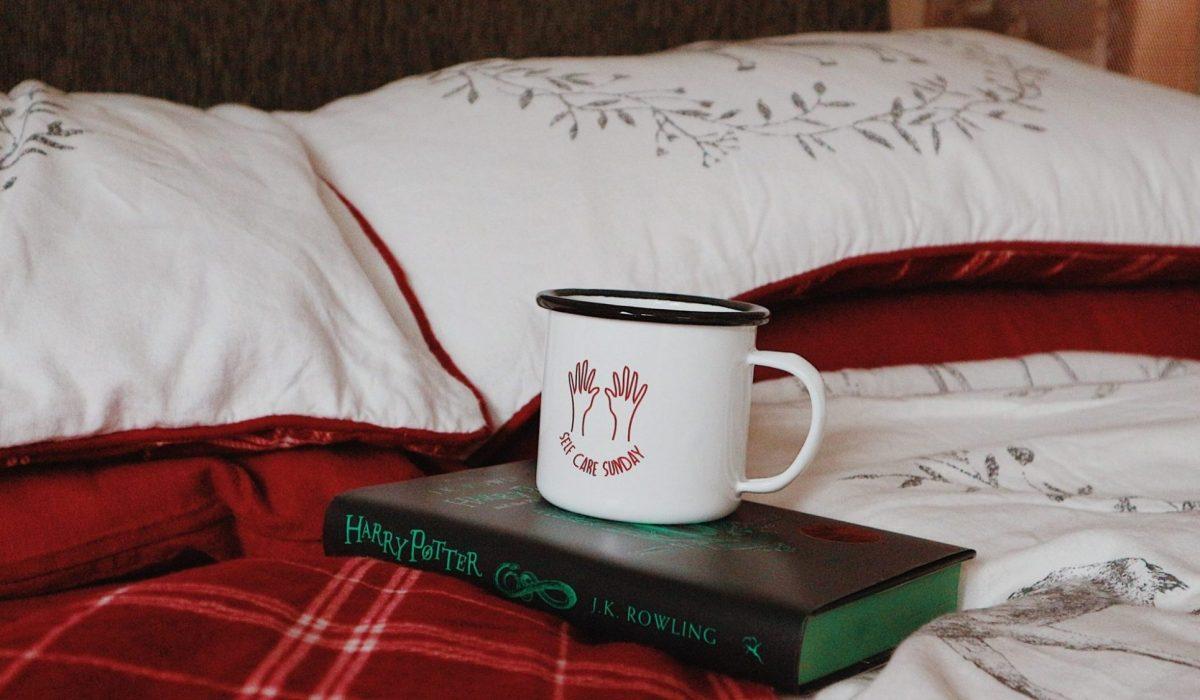 Festive Matalan Bedding   Self Care Mug   Slytherin Harry Potter Book