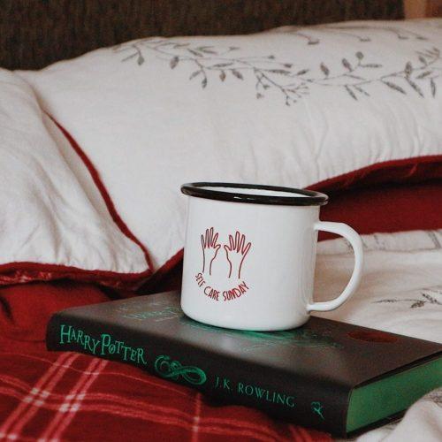 Festive Matalan Bedding | Self Care Mug | Slytherin Harry Potter Book