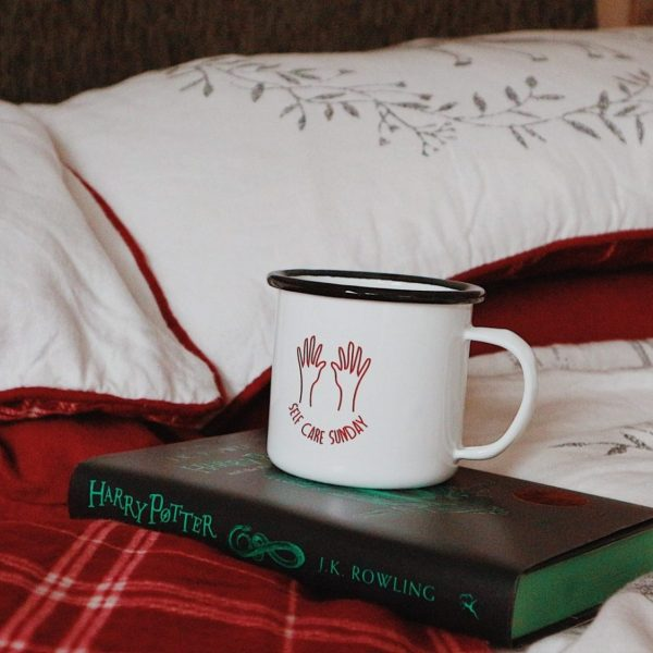 Festive Matalan Bedding | Self Care Mug | Slytherin Harry Potter Book