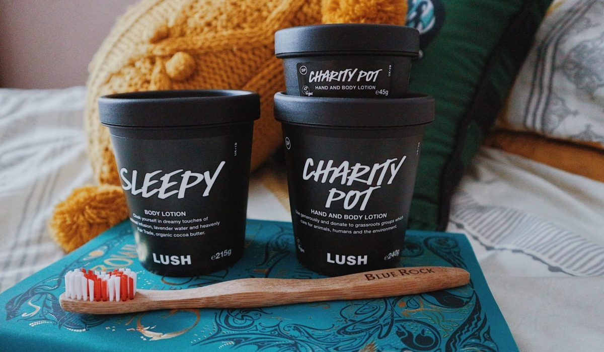 Lush Sleepy • Lush Charity Pot • Body Lotion • BlueRock Bamboo Toothbrush
