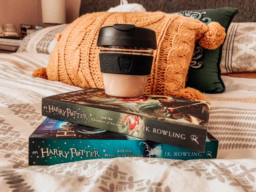 Harry Potter Books • Coffee • Keep Cup • Hygge