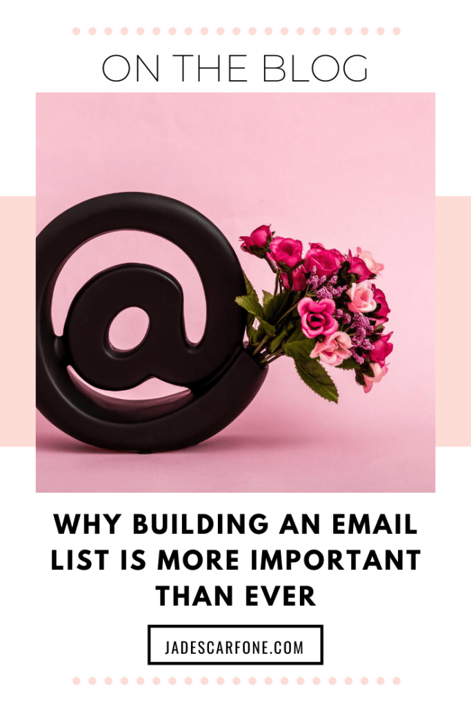 One thing I've always spoken about is the importance of building your email list. And with everything going on in the world right now I want to share why I believe building an email list is more important than ever.