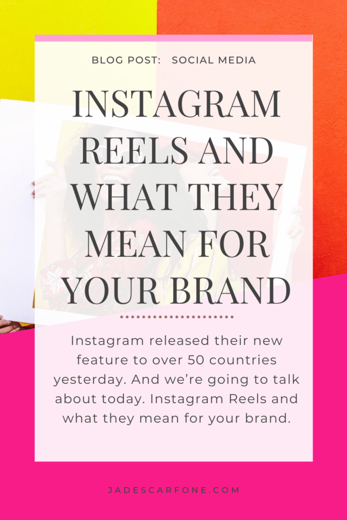 Instagram released their new feature to over 50 countries yesterday. And we're going to talk about today. Instagram Reels and what they mean for your brand.