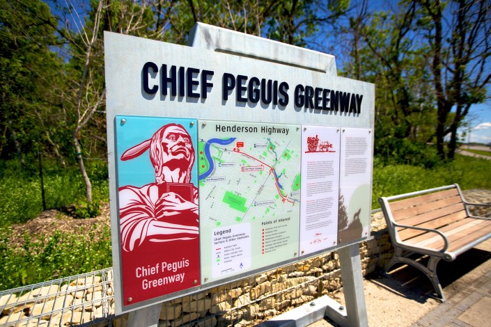 chief peguis greenway sign