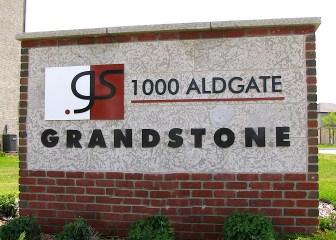 Painted Aluminum Letters Entrance Sign