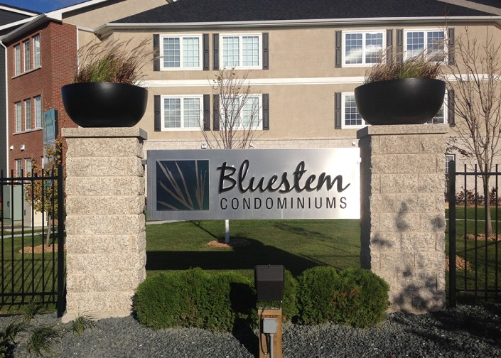 bluestem condo sign