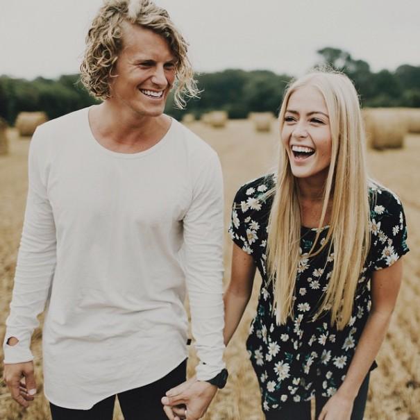 Foto pasangan Samuel dan Hildegunn (Instagram)