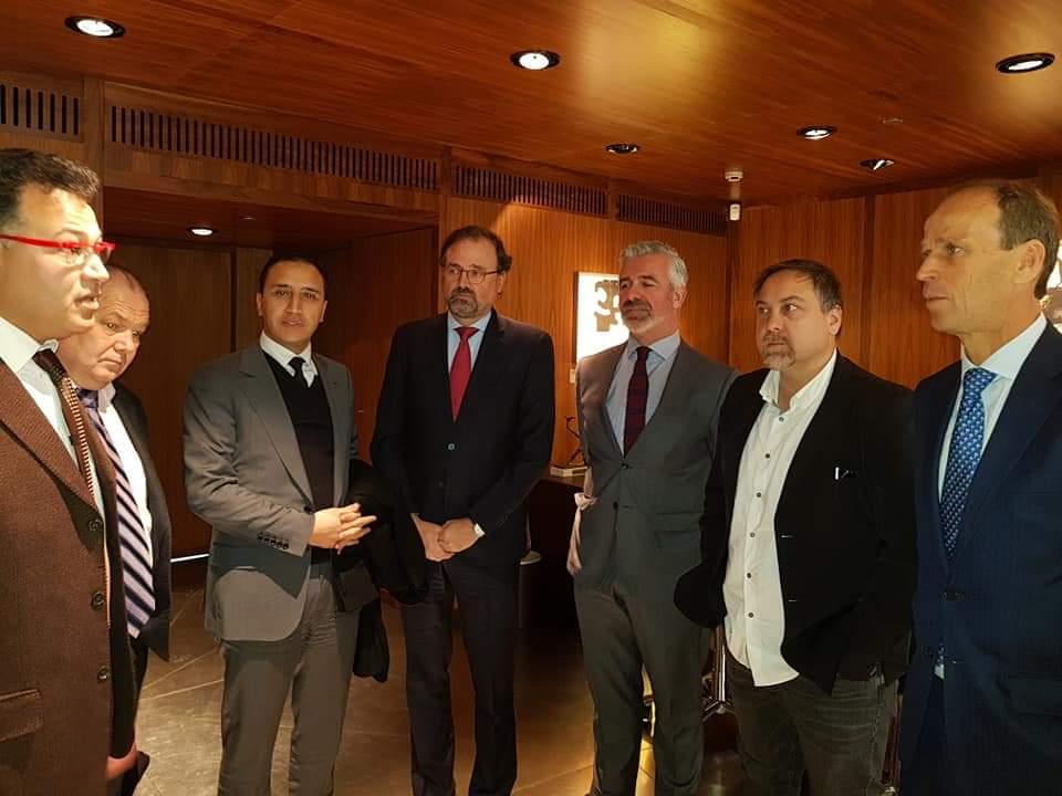 ابراهيم مجاهد رئيس جهة بني ملال خنيفرة يفاوض كبريات المؤسسات الاسبانية لاستقطاب الاستثمارات