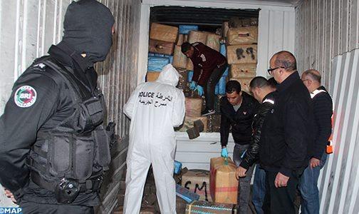 طنجة .. حجز كمية مهمة من المخدرات محملة على متن شاحنة للنقل الدولي