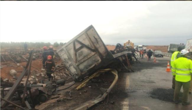 الطريق السيار بشيشاوة تهتز على وقع انفجار قنينات الغاز دون سقوط ضحايا