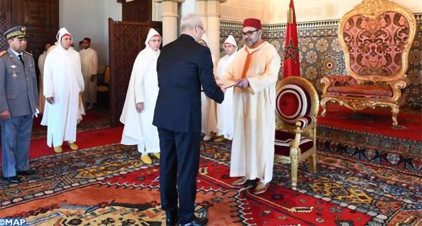 الملك محمد السادس يستقبل عددا من السفراء الأجانب.