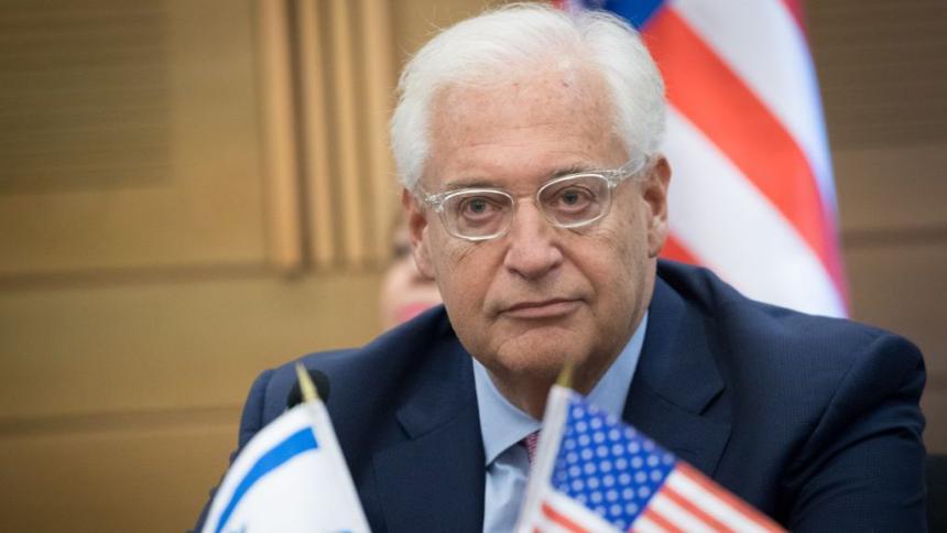 فريدمان.. من حق إسرائيل ضم أجزاء من الضفة والسلطة تحاول إفشال مؤتمر البحرين