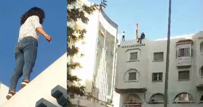 في أول أيام العيد..مغربي غامر بحياته لافشال محاولة إنتحار(فيديو)