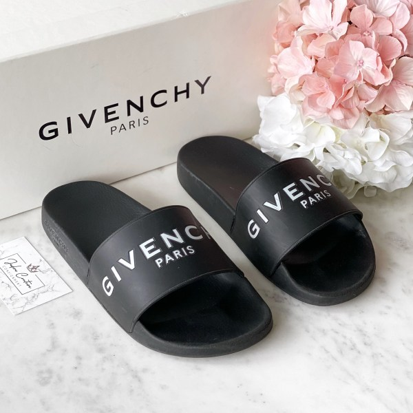 Givenchy Black Logo Slides 38