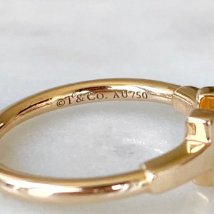 Tiffany & Co. 18k Rose Gold Wire Ring 4.25