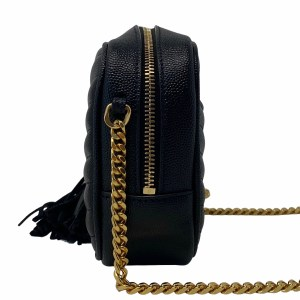 Saint Laurent Black Grained Mini Lou Camera Bag