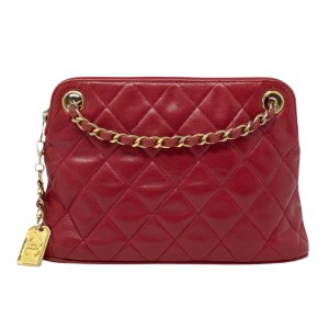 Chanel Vintage Red Lambskin GHW 31 Rue Cambon Bag