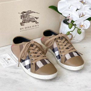 Burberry Vintage Brown Check Sneakers 37