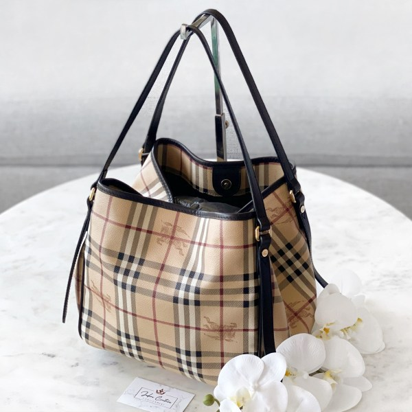 Burberry Haymarket Check Large Canterbury Tote