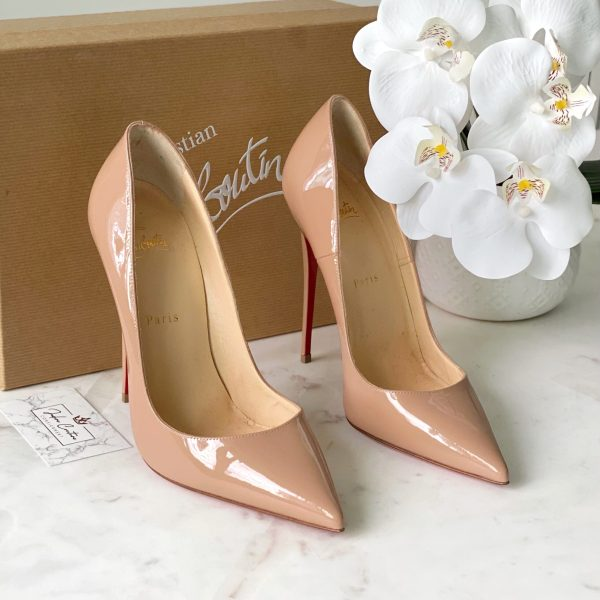Christian Louboutin Nude Patent S Kate Pumps 120mm 39