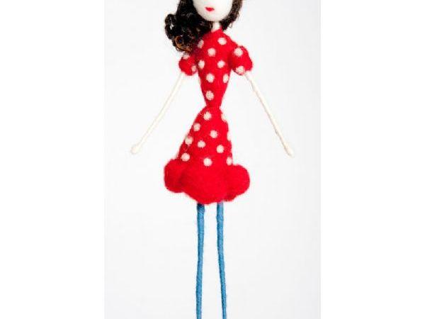 Polka Dot Red Dress Doll