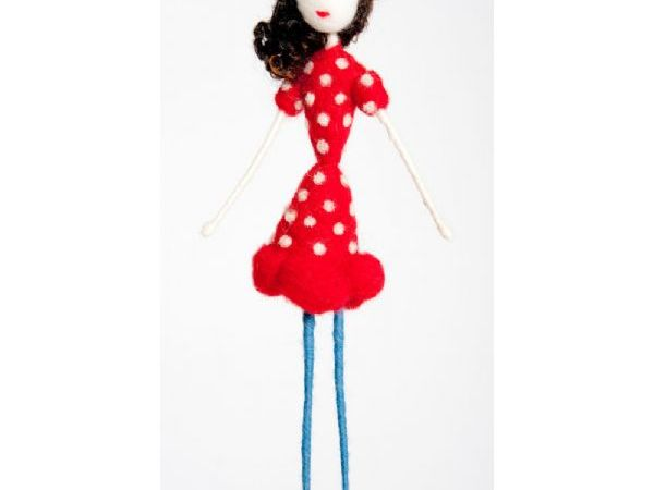 Polka Dot Red Dress Doll