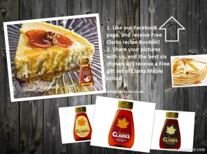 FREE Clarks Maple Syrup Recipe Booklet