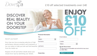 Spa Dove Voucher
