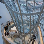 The impressive glass construction