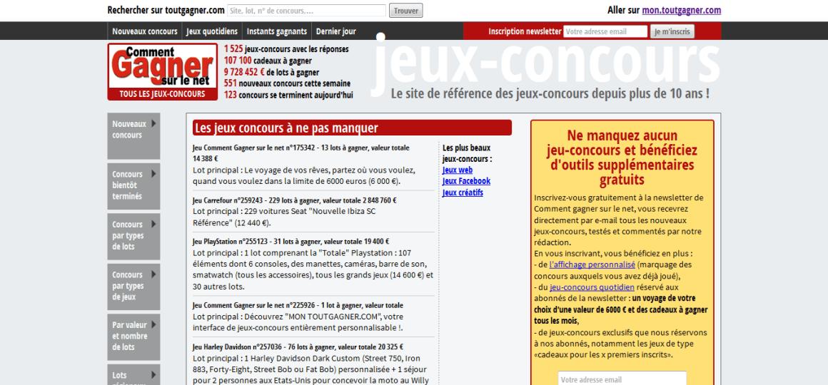 ToutGagner.com Online Contest