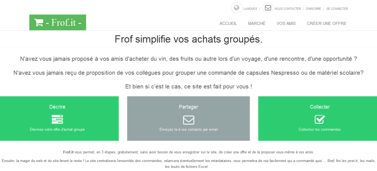 Frof.it Create Group Buying