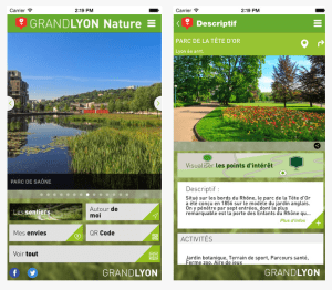 Grand Lyon Nature Mobile App