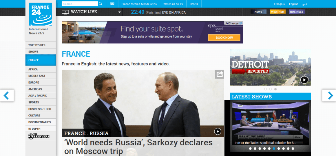 France24- 'Latest news reports on FRANCE, French politics and culture - France 24'