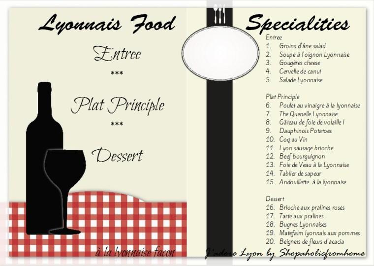 Lyonnais Specialities Cookbook1